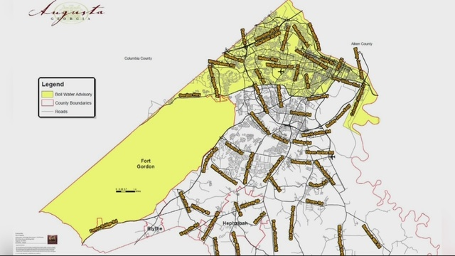 Interactive Map Created For Augusta Fort Gordon Boil Water Advisory