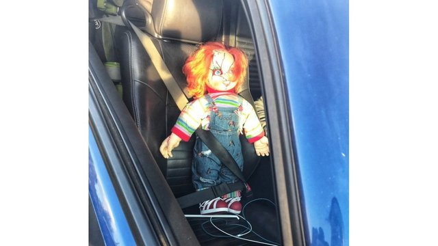 Carpool cheat busted for using 'Chucky' doll as passenger, police say