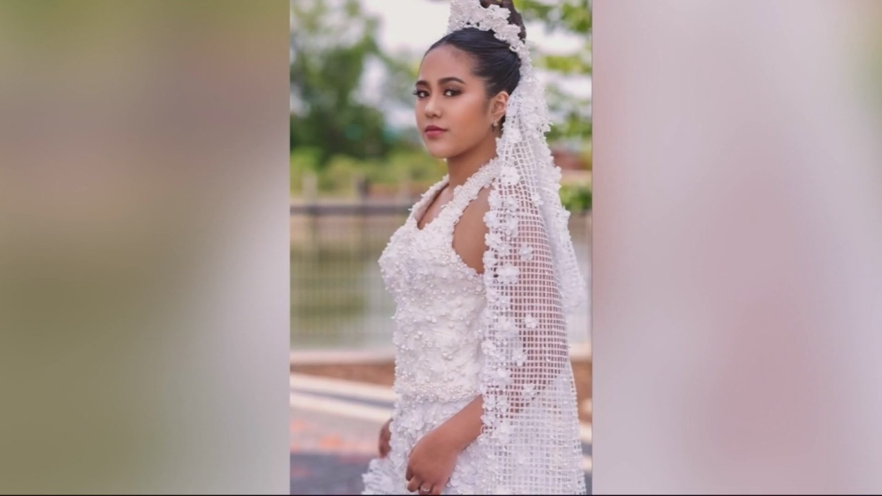 Exquisite wedding gowns made from toilet paper