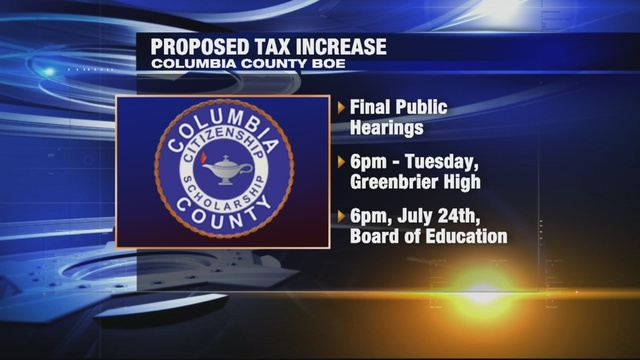 Public hearing to be held to discuss Columbia County Board of Education's proposed millage rate