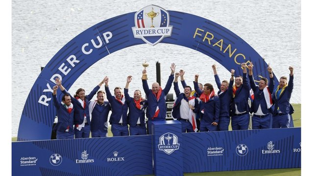 Europe finishes off dominant week to win Ryder Cup