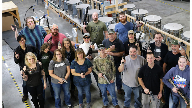 Company gifts all employees with handguns for Christmas