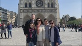 A local family stunned by the Notre Dame fire after they'd just flown home from Paris when it happen
