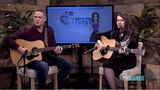 Jaycie Ward and guitarist Keith Jenkins perform on The Dish