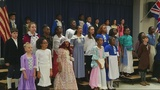Lake Forest Hills Elementary performs tribute to hit musical 'Hamilton'