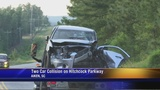 Two vehicle collision on Hitchcock Parkway leaves two people injured